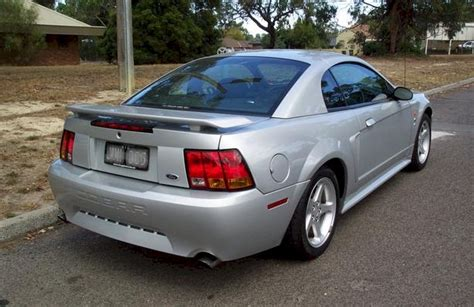 satin silver  ford mustang svt cobra coupe