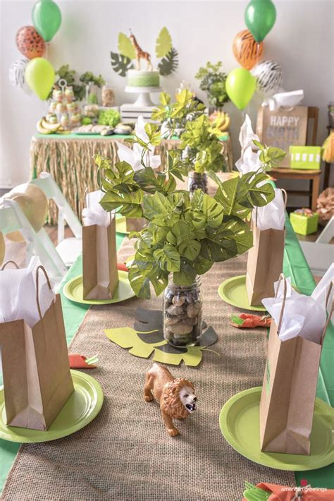 jungle birthday party ideas birthday party centerpieces