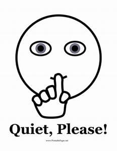 Printable Quiet Please Sign