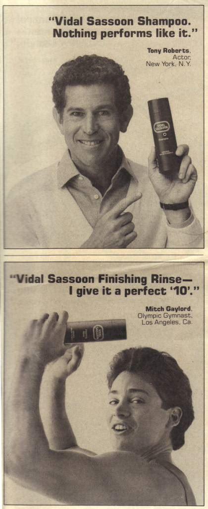 vidal sassoon  andy warhol sold hair products