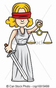 EPS Vectors of justice lady csp16919499 - Search Clip Art ...