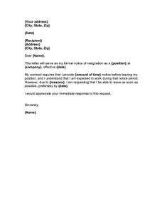 Image result for resignation letter HD | Job resignation letter, Resignation template