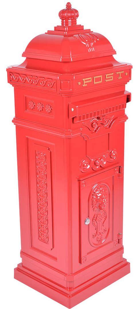 Vintage Red Grand Pillar Post Box