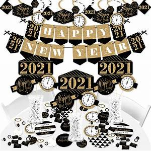 New Year's Eve - Gold - 2021 New Years Eve Party Supplies - Banner Decoration Kit - Fundle ...
