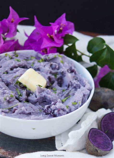 delicious blue mashed potatoes living sweet moments