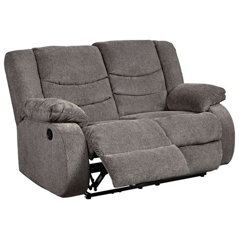 Contemporary Reclining Loveseat by Contemporary Reclining Loveseat By Signature Design By