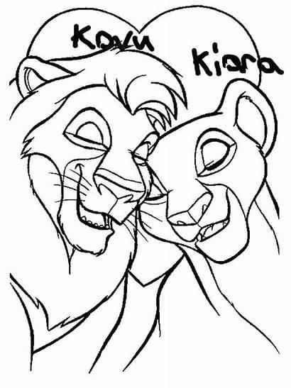 Nala Coloring Pages Lion Simba King Mufasa