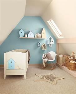 decoration interieure chambre bebe nursery garcon With couleur beige peinture murale