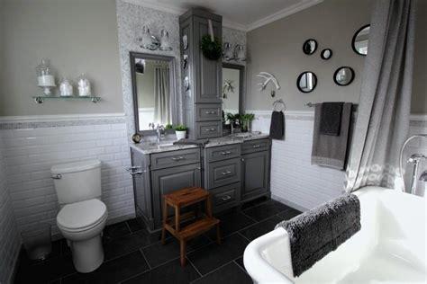 grey  white traditional bathroom