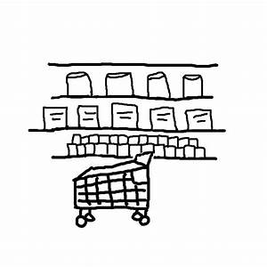 Grocery store clipart black and white