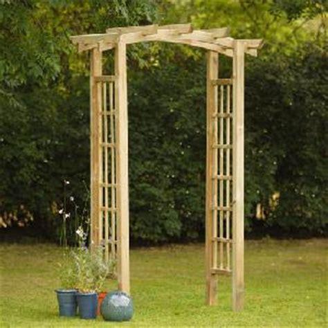 ryeford wooden garden arch  garden structures