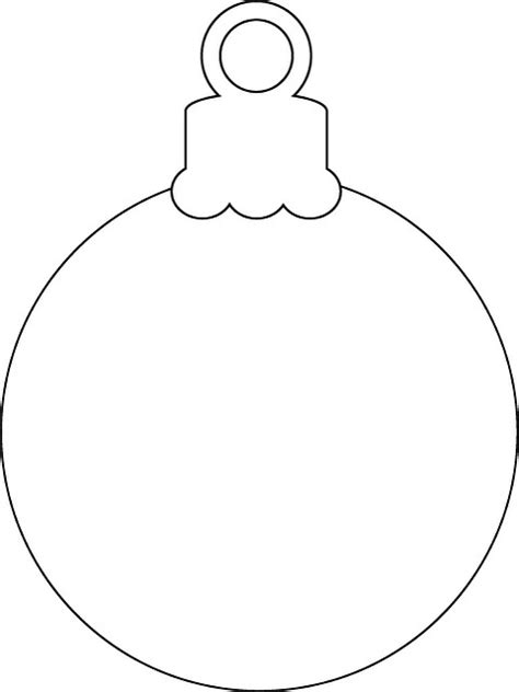 best photos of christmas tree ornaments coloring template