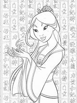 Mulan Coloring Disney Ausmalbilder Coloriage Princess Colouring Colorear Cricket Printable Colorier Adult Prinzessin Dessin Malvorlagen Adults Dibujos Cartoon Princesas Colors sketch template