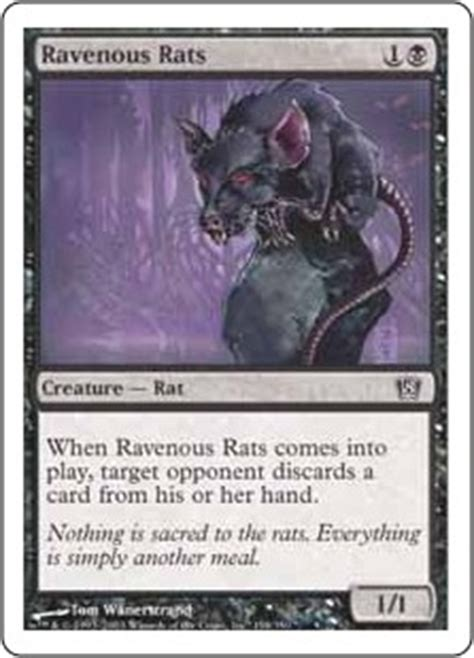 rat deck mtg modern ravenous rats magic the gathering wiki fandom powered