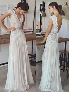 Cheap Vintage Lace Beaded Wedding Dresses 2017 Simple A ...
