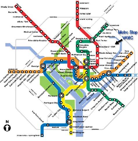 metro subway map washington dc va medical center