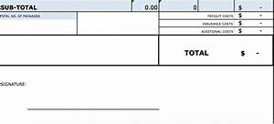 Excel Invoice Forms Download Standard Blank Commercial Invoice Template