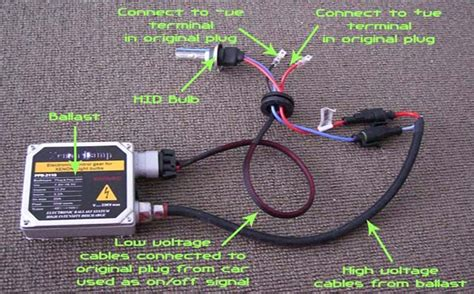 how to install hid lights installation guide for hid conversion kit dash z racing