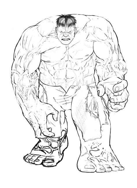 immagini hulk da colorare