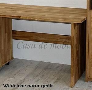 Schreibtisch Eiche Geölt : schreibtisch 160x74x78cm massivholz parkettverleimt ~ Watch28wear.com Haus und Dekorationen