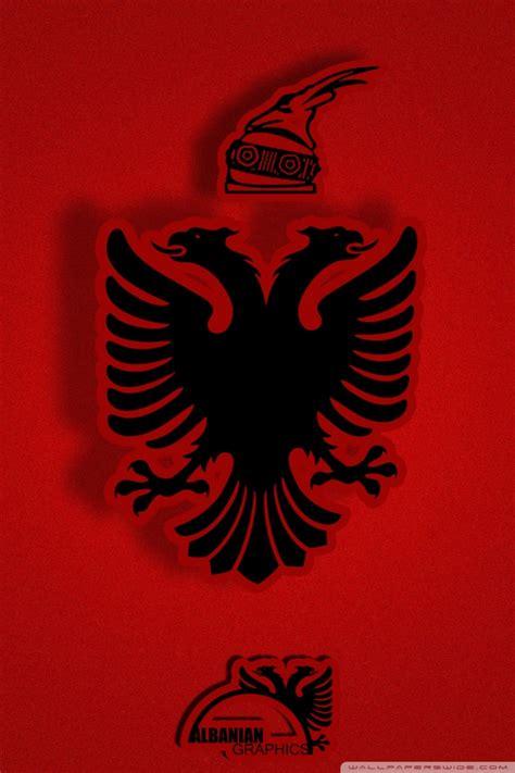 albanian flag ultra hd desktop background wallpaper