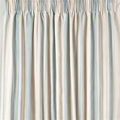 collection  duck egg blue striped curtains