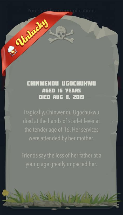 unlucky bitlife ribbons earn cancer