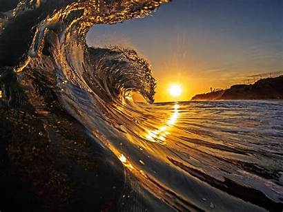 Sunrise California Water Nature Wallpapers Surf Sunset