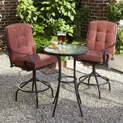 kmart smith cora patio furniture smith cora 3pc high bistro set shop your