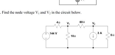 Solved Find The Node Voltage Circuit