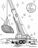 Crane Coloring Pages Truck Construction Drawing Drag Printable Tower Attic Cartoon Drawings Sketch Getdrawings Sheet Illustration Template Racer Worker sketch template
