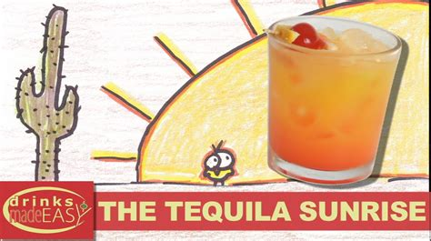 how to make tequila how to make a tequila sunrise cocktail recipe drinks made easy youtube