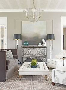 White And Grey Wall Colors For Scandinavian Living Room ...