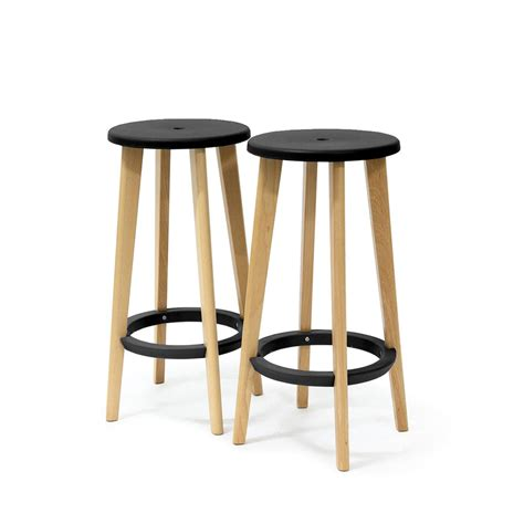 Tabouret De Bar En Bois Tabouret Bois Design Gris Harry S Par Drawer