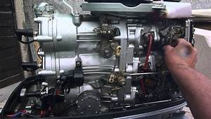 Suzuki 85 Hp Started After Carb Stripdown And Cleaning