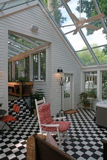 detached garage  attached sunroom greenhouse