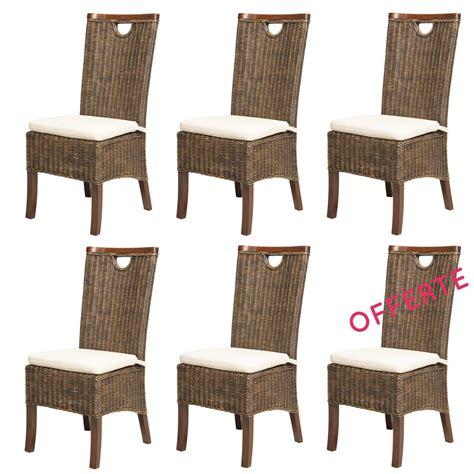 chaises de salle a manger lot chaises en rotin meubles en rotin lot 6 chaises en