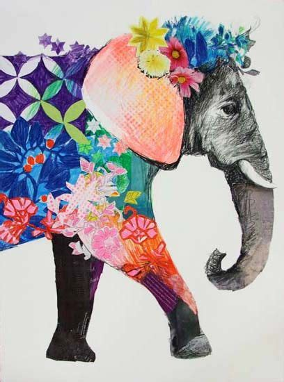 Pretty Elephant Art