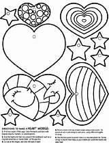 Heart Crayola Mobile Coloring Pages Hearts Valentine Cut Different Stars Sheets Adult Valentines Adults Colored Printables Glue Box Ribbon Pink sketch template