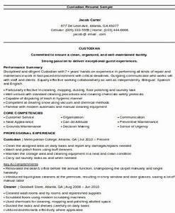 Custodian Resumes Sample Custodian Resume 8 Examples In Word Pdf