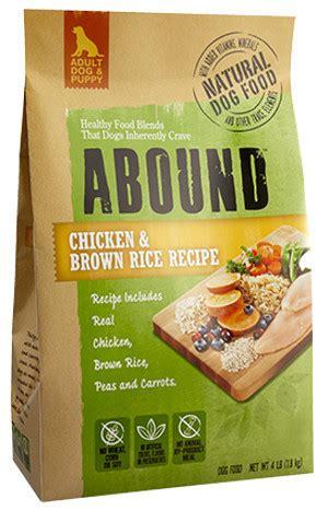 abound chicken  brown rice dog food recalled