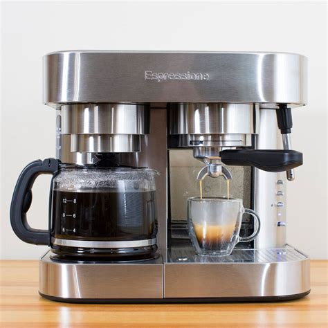 The modern generation of espresso machines give users simple to use, push button coffee drinks. Espressione EM-1040 Combination Espresso Machine and Coffee Maker, 10 cup | Sur La Table