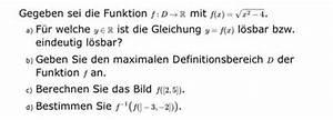 Pks Wert Berechnen : wurzel funktion f x x 2 4 bildbereich definitionsbereich umkehrfunktion mathelounge ~ Themetempest.com Abrechnung