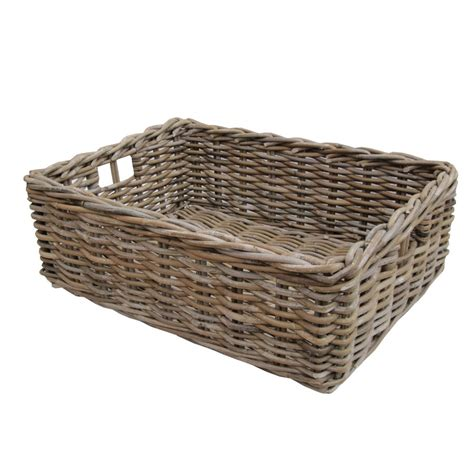gray bathroom ideas rectangular grey buff rattan storage baskets