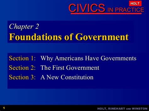 Civics Ch2 Foundations Of Government