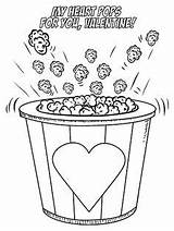 Coloring Printable Popcorn Valentine Valentines Slime Heart National Pops Craftymorning Printables Birthday Crafty Getcolorings Cool Hearts Valen sketch template