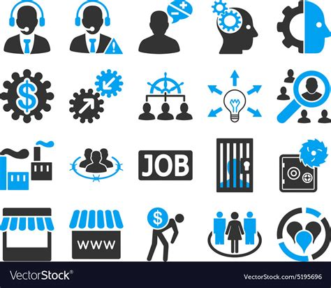 14701 business icon vector business service management icons vector image by ahasoft