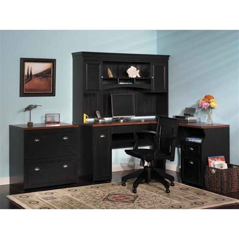 computer desk with hutch and file cabinet furniture black corner home office computer desk with
