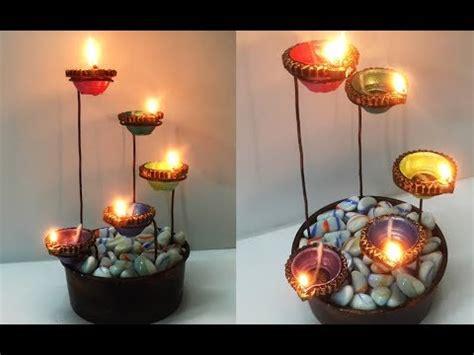 beautiful diya stand  diwali decoration easy diya