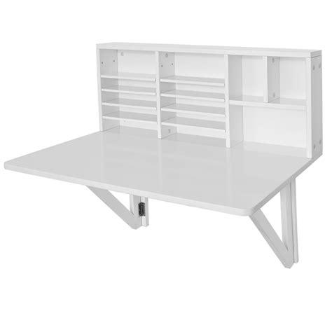 bureau mural rabattable ikea sobuy folding wall mounted drop leaf table desk with storage shelves fwt07 w uk